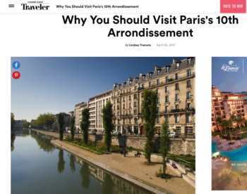 Conde Nast Traveler – Why Visit the 10th Arrondissement
