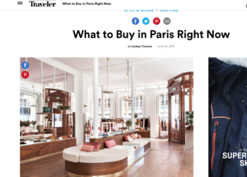 Conde Nast Traveler – What to Buy in Paris