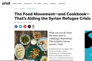 Afar Magazine – The Food Movement Helping Syrian Refugees