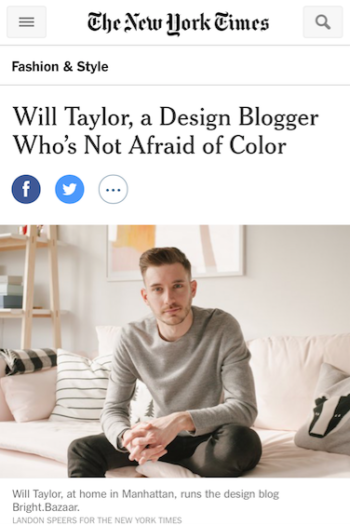 The New York Times – Up Next: Will Taylor