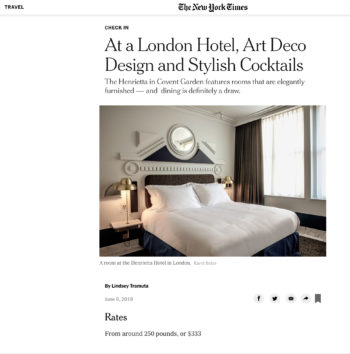 New York Times – Henrietta Hotel review